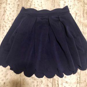High waisted scalloped skirt!